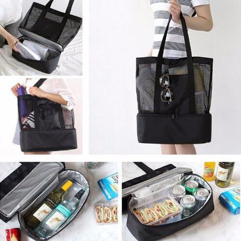 Portable Mesh and Insulated Bag - FeelLifeStore
