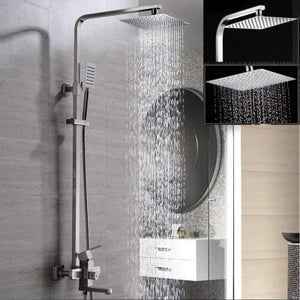 Square Stainless Steel Rainfall Shower Head - High Pressure Rain Shower Head - FeelLifeStore