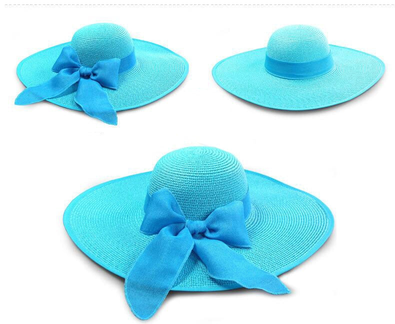 Ladies Floppy Beach Hat - Wide Brim Sun Hat For Women - FeelLifeStore