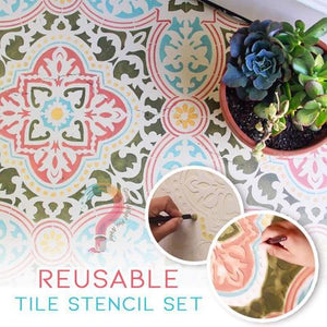 Reusable Tile Stencil Set Of 4 - FeelLifeStore