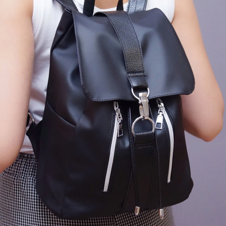 Lightweight Minimalist Backpack - Women Leather Strap Backpack - FeelLifeStore
