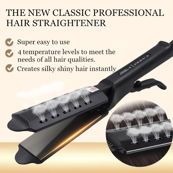 【Hot sale】Ceramic Tourmaline Ionic Flat Iron Hair Straightener - FeelLifeStore