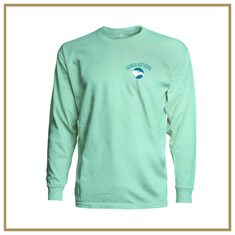 Unisex Long Sleeve Comfort Colors Pigment Tee Island Reef