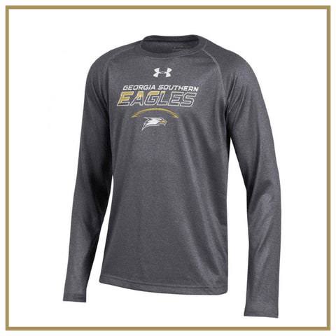 Youth Long Sleeve Grey Tech Tee Football