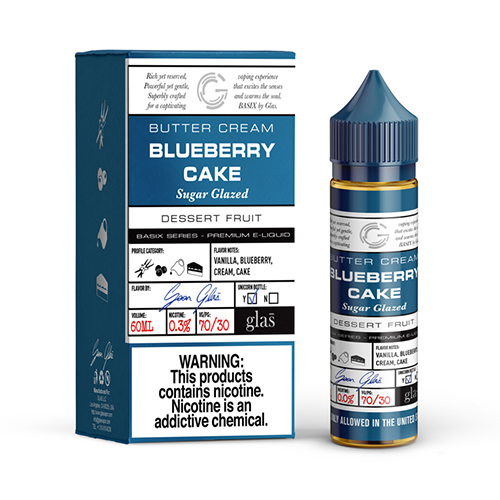 Glas Basix E-Liquid - Blueberry Cake - MI VAPE CO