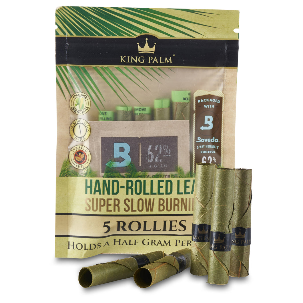 King Palm - 5 Rollies with Boveda - MI VAPE CO