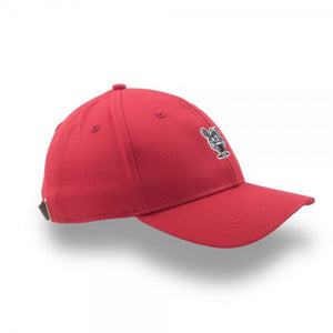 Huni Badger - Huni Badger Leather Strapback Red 6-Panel Hat