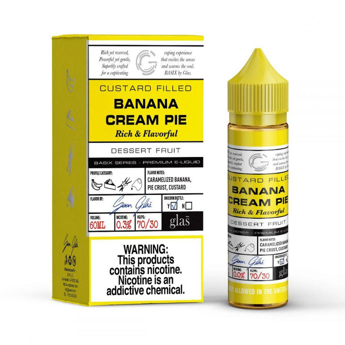 Glas Basix E-Liquid - Banana Cream Pie - MI VAPE CO