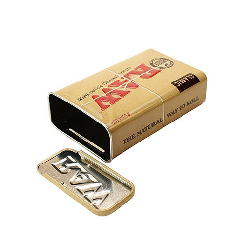 Raw- Metal Slide Top Tin