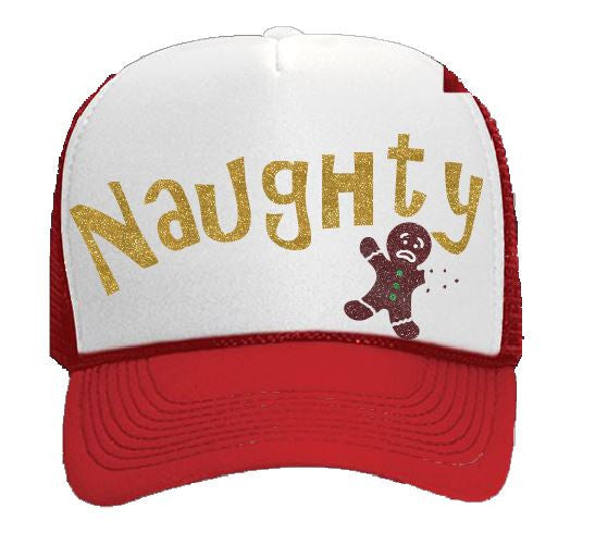 626c8f962df Naughty Holiday Trucker Hat – Bleacher Kouture