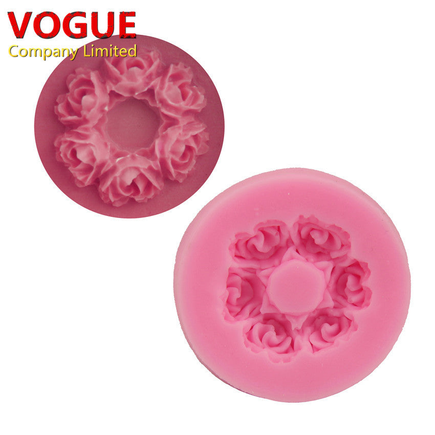 Cute 3.7*0.7CM Rose flower Shape 3D Silicone mold soap chocolate mould for kitchen baking clay DIY cake Decorating tools N1784