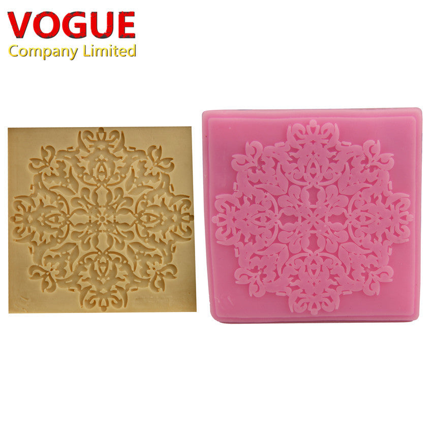 Beautiful DIY Sugarcraft Soft Silicone Embossing Mould Candy Fondant Cake Decorating Mold N2158