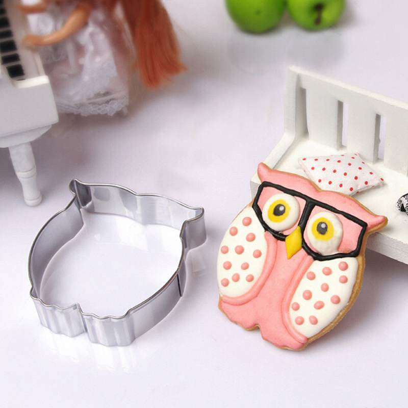 Lovely Owl Cookie Cutter Home Kitchen DIY Cake Biscuit Pastry Craft Cooking Stainless Steel Baking Mold