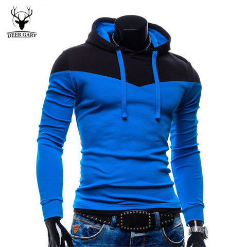 New Arrival Fashion Men's Hoodies Patchwork Two Colors Napping Casual Men's Sweatshirts Hooded Collar Men Coats 6 Colors