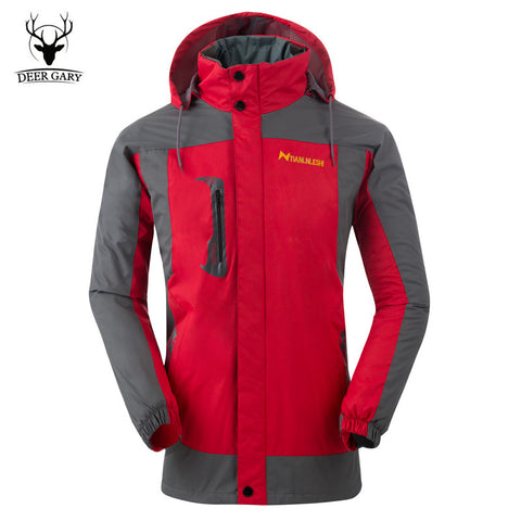 2016 New Fleece Warm Jacket Men Breathable Windbreak Hooded Jacket Autumn Winter Men/Women Waterproof Jacket Trekking Coat