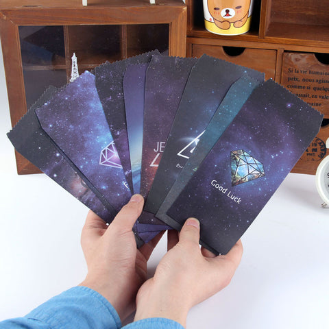 5pcs/lot  Paper Envelope Romantic Starry Style Envelopes Vintage Korean Style For Card Scrapbooking Gift  03220