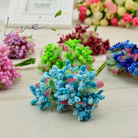 10pcs/lot Artificial Flowers Mulberry Stamen / Pistils Wedding Supplies Beads Flower Diy Handmade Scrapbooking Decoration
