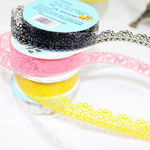 DIY Cute Colorful Kids Photo Props Lace Flower Tape for Scrapbook Decor Photo Albums Accessories Free shipping