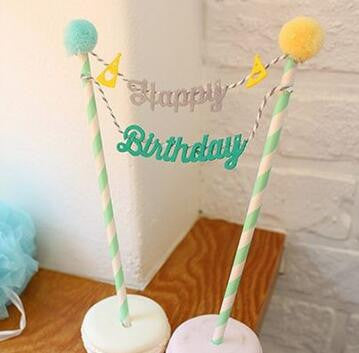 cake toppers paper cards banner for Cupcake Wrapper Baking Cup birthday tea party decoration Wholesale