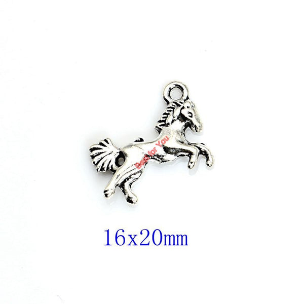 Mixed Tibetan Silver Plated Horse Pegasus Charms Pendants for Bracelet Necklace Jewelry Accessories Making Diy Handmade Crafts