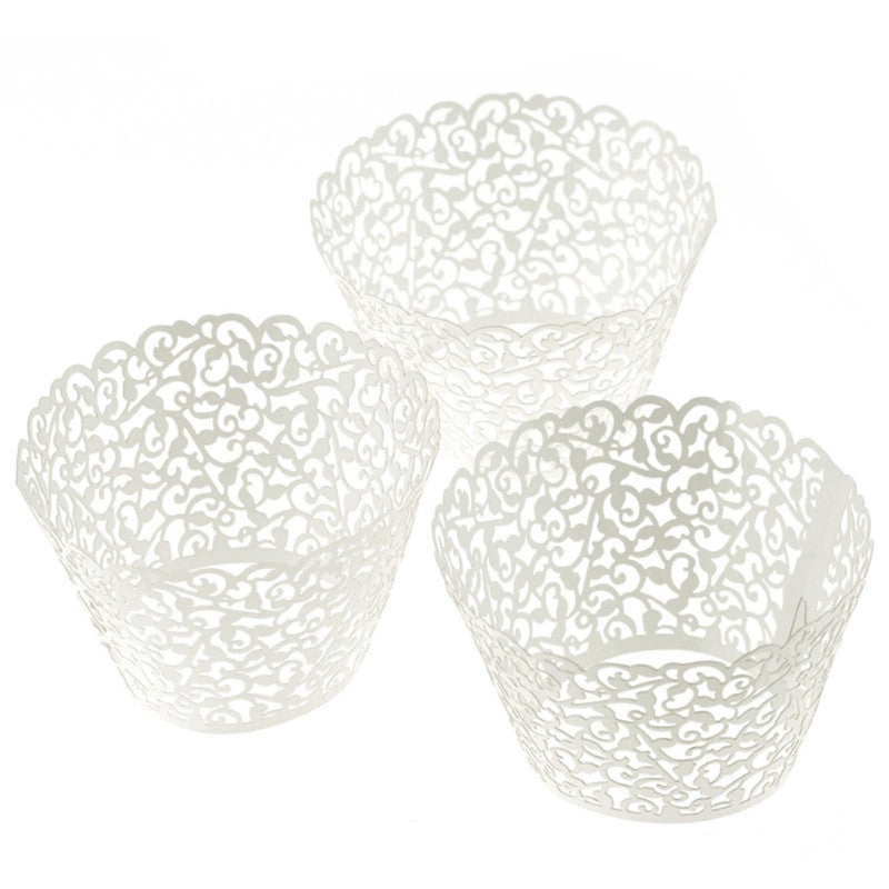 60pcs Lace Laser Cut Cupcake Wrapper Liner Baking Cup Muffin Christmas&Halloween Time forma de silicone mold decor sale