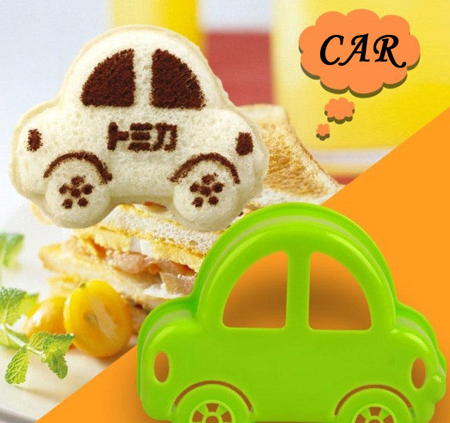 cartoon car Sandwich Bread Cake Mold Maker DIY Mold Cutter Craft chocolate cookies ice Wholesale