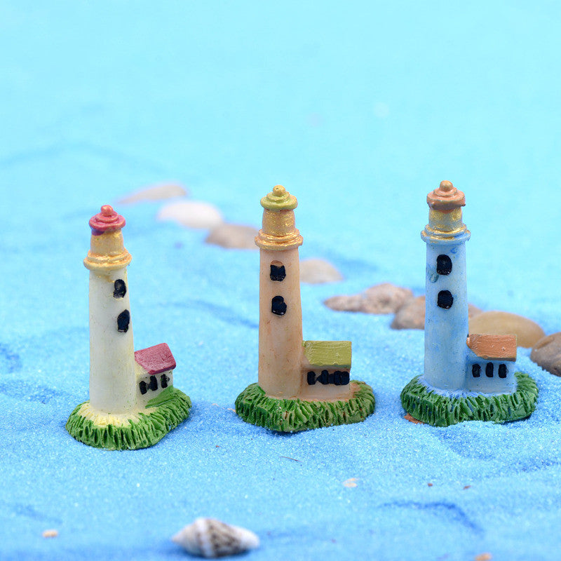 Mini Lighthouse Beacon Micro  Small World Plastic Craft DIY Accessories