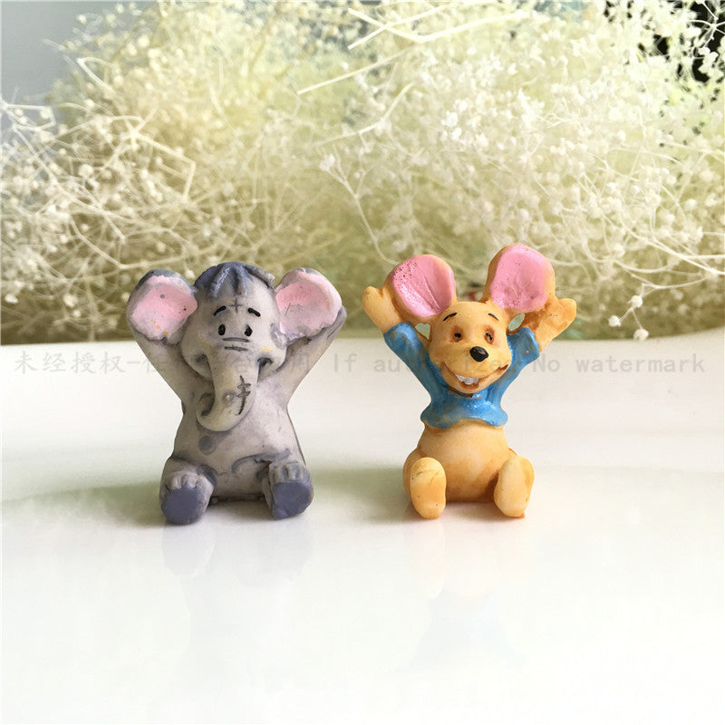 Elephant Mouse Miniature Resin Crafts Micro landscape Decoration Succulents Ornaments Accessories DIY Fittings Material Pendant