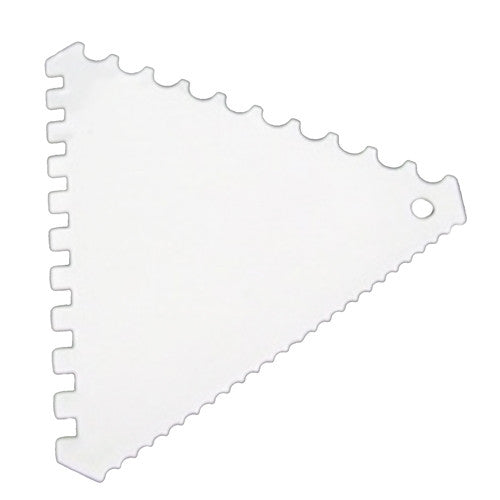 CAKE SCRAPER icing FONDANT BAKING jagged SAWTOOTH 110*110MM