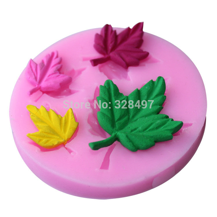 Maple Shape silicone molds Handmade Soap Mold, Fondant Cake Decoration Sugar Craft Tools baking tools E009