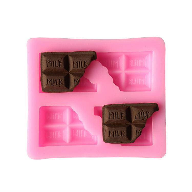 Chocolate half block Shape Silicone molds Handmade Soap Mold, Fondant Cake Decoration Sugar Craft Tools baking tools C145