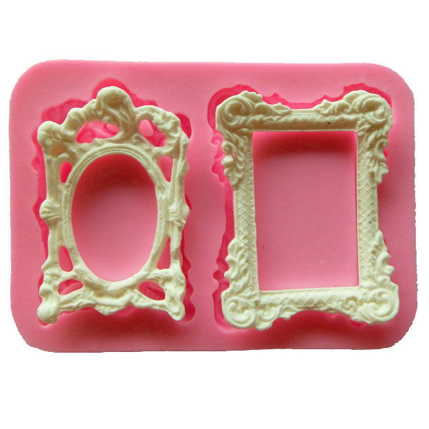 Free shipping Picture frame cooking tools wedding decoration Silicone Mould baking Fondant Sugar Craft DIY Cake candy