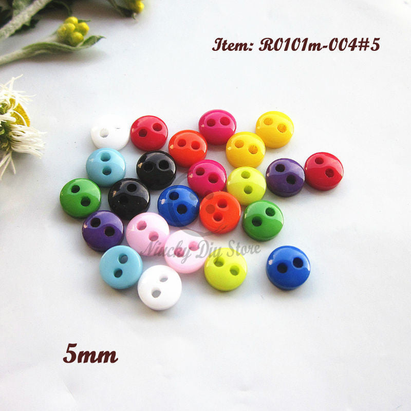 Mini buttons 144pcs 5mm mixed color round bread buttons little doll buttons for diy sewing craft and scrapbooking accessories