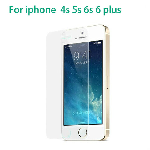 The glass on for iphone 5s the front screen protective for iphone 6s strach proof mobile phone film for iphone 4s 5s 6s 6plus