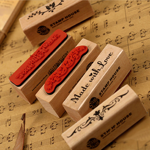 Free shipping 1pcs vintage strip wooden rubber stamp Kids DIY Handmade Scrapbook Photo Album, students Stamps Arts, Crafts gifts
