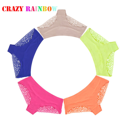 2016 women's sexy lace panties seamless cotton breathable panty hollow briefs Plus Size girl best brand underwear