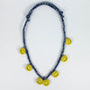 Bandana Smiley Necklace - Navy