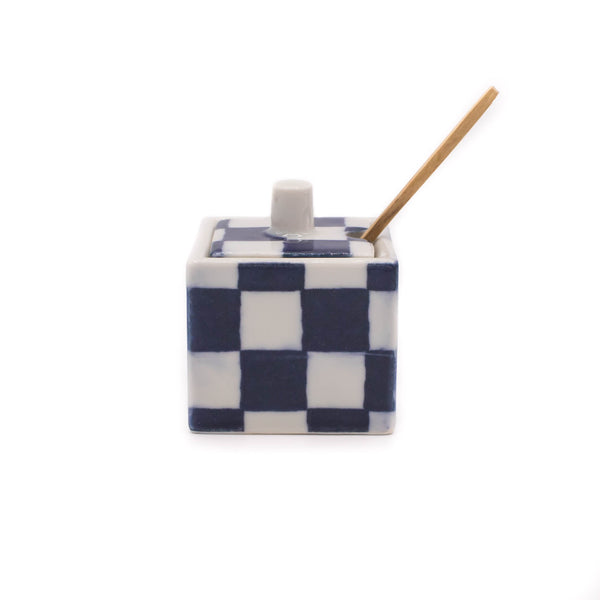 Checker Condiment Spice Jar - Japan