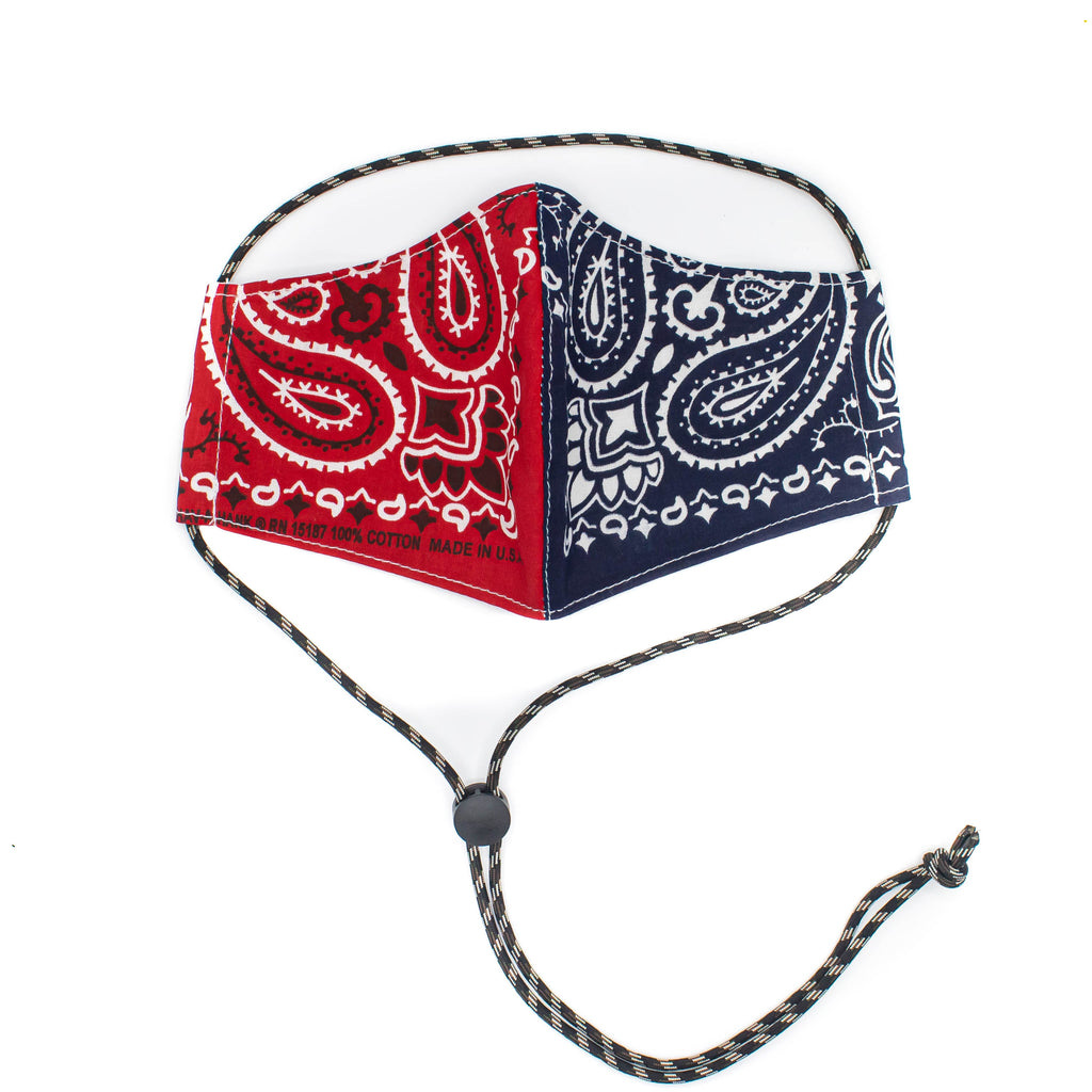 *PRE SALE* (estimated arrival May 20th) Cotton Face Mask with Adjustable Strap - Bandana Print - November 19 Market