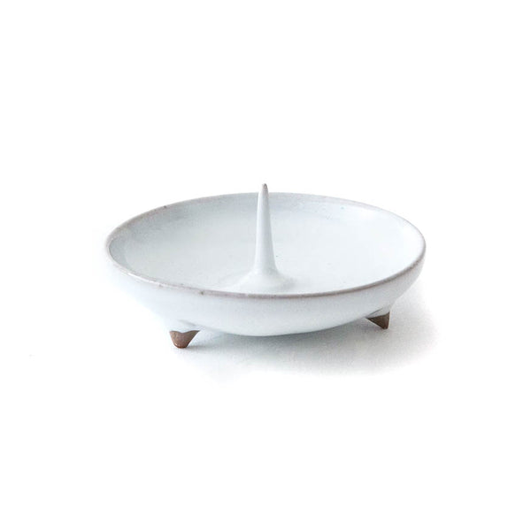 Daiyo Mame Ceramic Candle Holder - White - November 19 Market