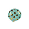 Gold Foil Dot Peach Mini Plate - Japan