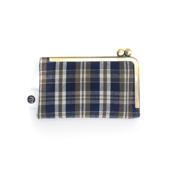 Ichishina - Wallet - Juniper Blue Plaid - November 19 Market