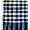 Navy And White Check Cotton Scarf