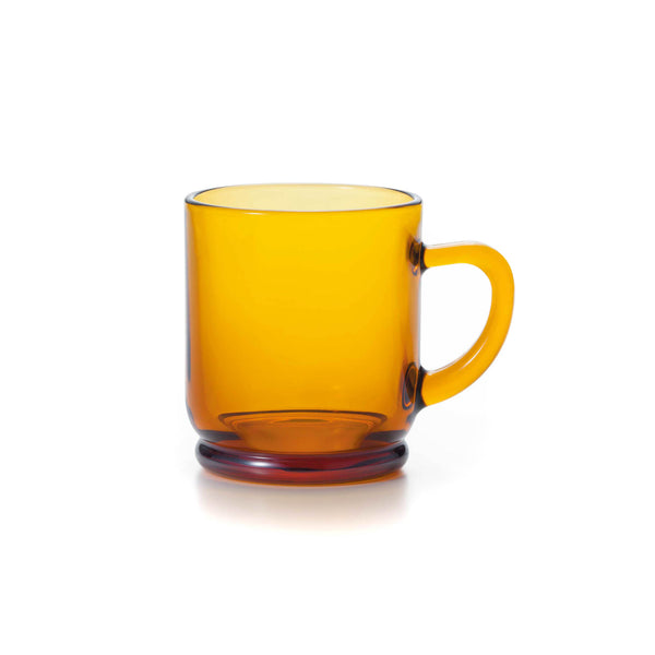 Japanese Glass Mug - Amber