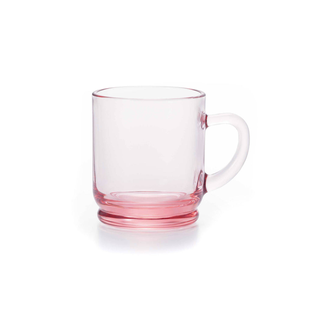 Japanese Glass Mug - Pink