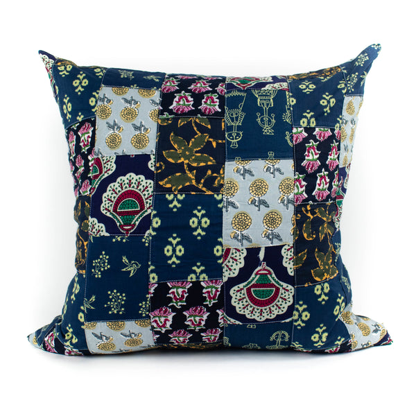 Mr. Chung - Floral Patch Work Pillow - Blue - November 19 Market
