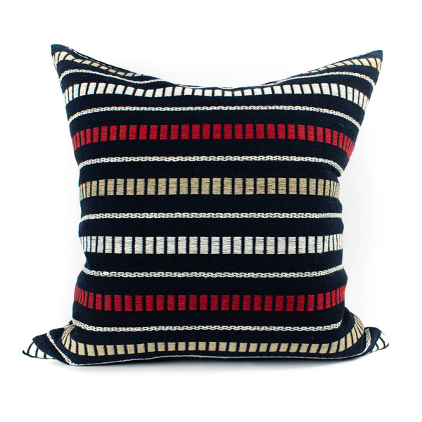 Mr. Chung - Maya Stripe Pillow - Blue - November 19 Market