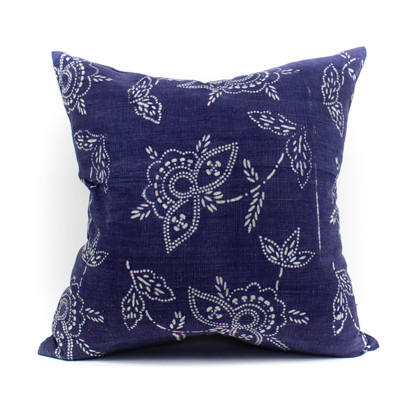 Mr. Chung -Vintage Indigo Floral Pillow - November 19 Market