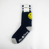 Mr. Chung Smiley Socks - Navy With Off White Stripe
