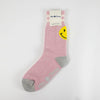 Mr. Chung Smiley Socks - Pink Melange With Ivory Stripe
